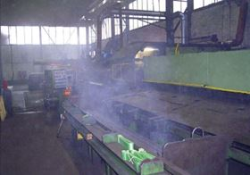 Figure 3: Oil mist and oil smoke technology is available that removes oil mist and smoke from the machining floor environment of an unfiltered area.