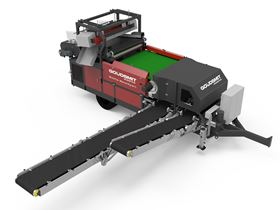 The mobile magnetic metal separator is designed for coarse bulk flows such as shredded wood.