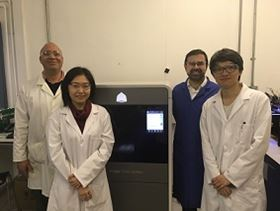 Left to right- Dr Darrell Patterson, Director of CASE with Research Associates Yen Chua and Nicholas Low; Professor Davide Mattia.
