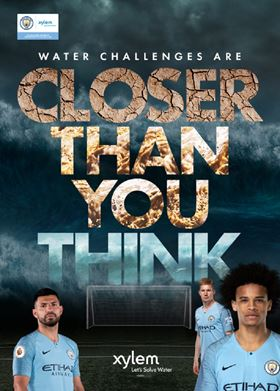 Manchester City footballers kick off Xylem's 'Closer Than You Think' campaign