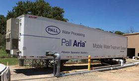 Pall Water's fully integrated mobile membrane water treatment unit.