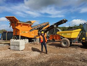 Mark Dunne, co-founder and MD of WasteSURE with the new machinery.