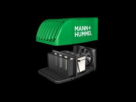 The PureAir fine dust particle filter roof box from Mann+Hummel.