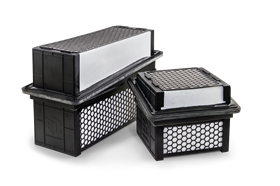Baldwin Filters' new EnduraCube air filters have depth-loading media technology.