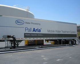 Four Pall Aria(TM) mobile water treatment systems similar to the one in this photo supplement the water supply for the city of Calexico following an earthquake. (Photo: Business Wire).