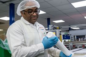 Filter making at Amazon Filters' production centre in Camberley, Surrey.
