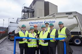 Cutting the ribbon at Chemviron Carbon's new reactivation plant in the UK (Image courtesy of Edward Moss).