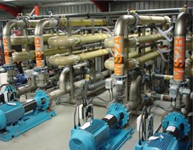 Figure 3. The UF membrane system of the original 'first generation' AMBR at Kanes Foods.
