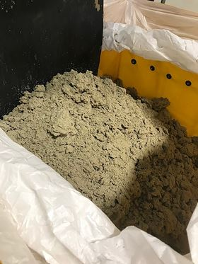 Dry sludge is ready for disposal once liquid-solids separation occurs.
