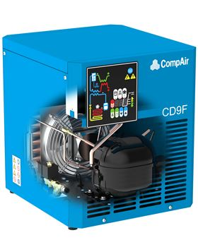 The new CD refrigerant dryer range from CompAir offers flow rates of to 191.67 m3/min.