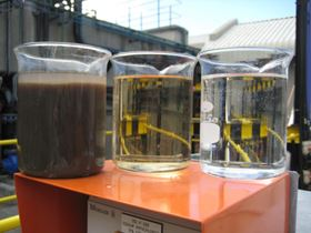 Figure 1: Progressive cleaning up of brewery effluent into high quality reusable water.