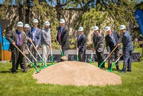 Breaking ground on the new Material Research Center in Bloomington.
