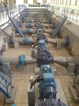 The Ebara pumps that were delivered to the filtration plant in Da Nang, Vietnam