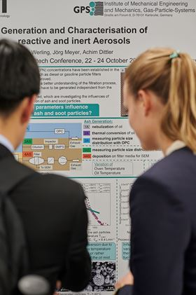 Scientific exchange and latest research news: Conference area of FILTECH. (image: FILTECH Exhibitions Germany)