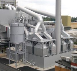 A waste incineration plant near Berlin in Germany which uses Dantherm's flat-bag filters.