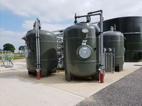 A fully automated 4v2040 FilterClear TSR plant installed at Severn Trent Water's Codsall STW.