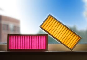 Serionix's Colorfil smart filters let you know when they are working (pink) and when they're spent (yellow) with an intuitive, unambiguous colour change.