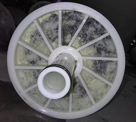 An example of biofouling on a RO element.