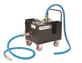 The FiltraMag+ mobile unit is an off-line filtration system designed for cleaning oils and coolants.