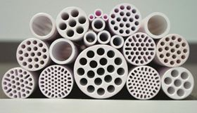 Ceramic membranes from the Fraunhofer Institute for Ceramic Technologies and Systems IKTS. (Picture © Fraunhofer IKTS.)