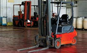 Mobile plant, such as fork lifts can be difficult to service in situ.