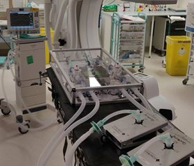 The device makes it possible to split the airflow from one ventilator, allowing two patients to receive tailored respiratory support. (Image: Institute for Manufacturing/Royal Papworth Hospital)