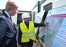Ambassador Clive Alderton tours Biwater's wastewater works in Morocco