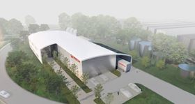 Render of the new facility in Heinsberg.