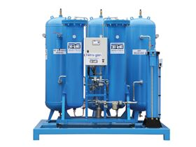 Typical Nitrogen generator, just one of the compressed air equipment products available from Hi-line Industries.