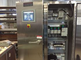 A single control panel is used for all of the system's equipment and features electric actuation.