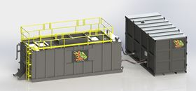 Designed for both interior and exterior placement, the modular Greasezilla FOG separation system is scalable in 10,000-gallon processing modules.