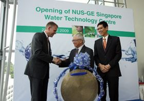 NUS-GE Water Technology Centre opens in Singapore.