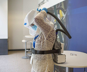 Ford's Powered Air Purifier Respirator with Mann+Hummel HEPA filter elements. Image: Ford Motor Co.