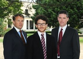 Left to right: OxyMem co-founders Wayne Byrne, Dr Eoin Syron and Professor Eoin Casey pictured at University College Dublin.