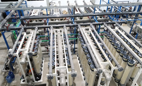 NX Filtration's membrane modules at a previous project for PT. Bayu for the production of drinking water for the city of Dumai in Indonesia.