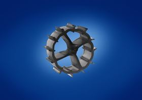 Biopipe 600 is a finned wheel shape as part of the MBBR, used degassing and bio filtration.