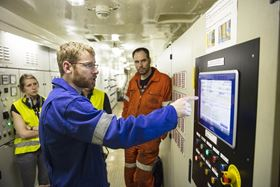 Roland Hoogeveen, Technical Support Engineer at Spliethoff, controls the Alfa Laval PureSOx.
