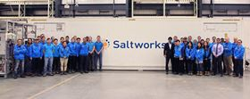 The Saltworks Team and the Honorable Harjit Sajjan in front of the AirBreather plant.