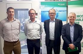 Left to right: Kristian Kirwin, national engineering manager, Airepure; Roger Van Oosten, CEO, Airepure; Alan O'Connell, president Asia Pacific, Camfil; and Bill Wilkinson, managing director, UK, Camfil.