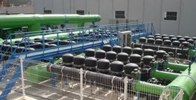 Figure 2. Pre-treatment for seawater desalination. (Image courtesy of Amiad Filtration Systems Limited).