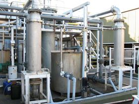 Figure 5: Filtration plant for the treatment of mixed oily wastewaters and emulsions (Photo courtesy of Worth Recycling Pty Ltd and Mr. Guy Ortado).