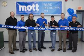 The grand opening of Mott Corp's new Rapid Prototype Manufacturing Cell.