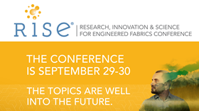 Highlights of the RISE conference include sustainability developments in polymers, fibres and additives,.