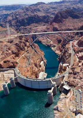 The US Bureau of Reclamation is best known for the construction of such projects as the Hoover Dam on the Colorado River.