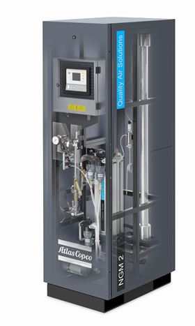 Atlas Copco Compressors' new NGMs 1–3 membrane technology units for low-flow N2 requirements.