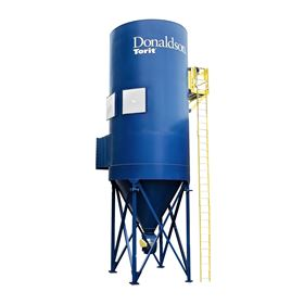 The RP baghouse collector features Donaldson's SuperSep inlet which pre-separates up to 97% of the dust before it reaches the filters.