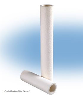 Pall's range of absolute filter elements, including the Profile coreless filter, reduce suspended solids under 5 ppmw.