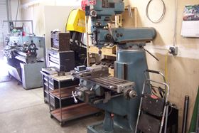 The end mill in the Copper State Fluid Power machine shop.