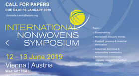 The focus of the symposium will be sustainability in the nonwovens sector.