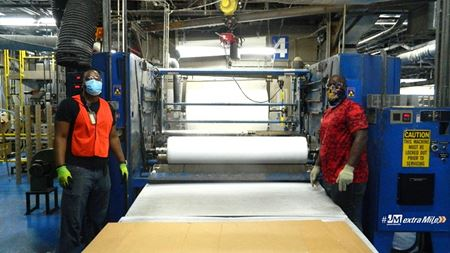 Johns Manville starts producing nonwoven media for face masks
